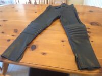 Child's leather motorbike trousers size 28""