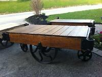 Antique Foundry Carts