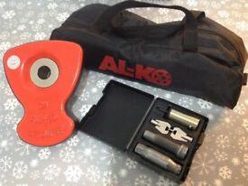 Alko Caravan Wheel Lock, No. 34 Complete. For Swift Conqueror. Used For Five Weeks. Bargain. £155.