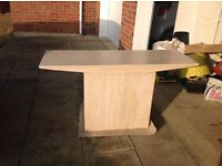 Travertine marble console table