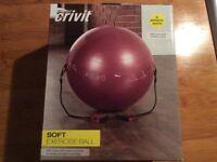 Crivit soft exercise ball brand new boxed sealed