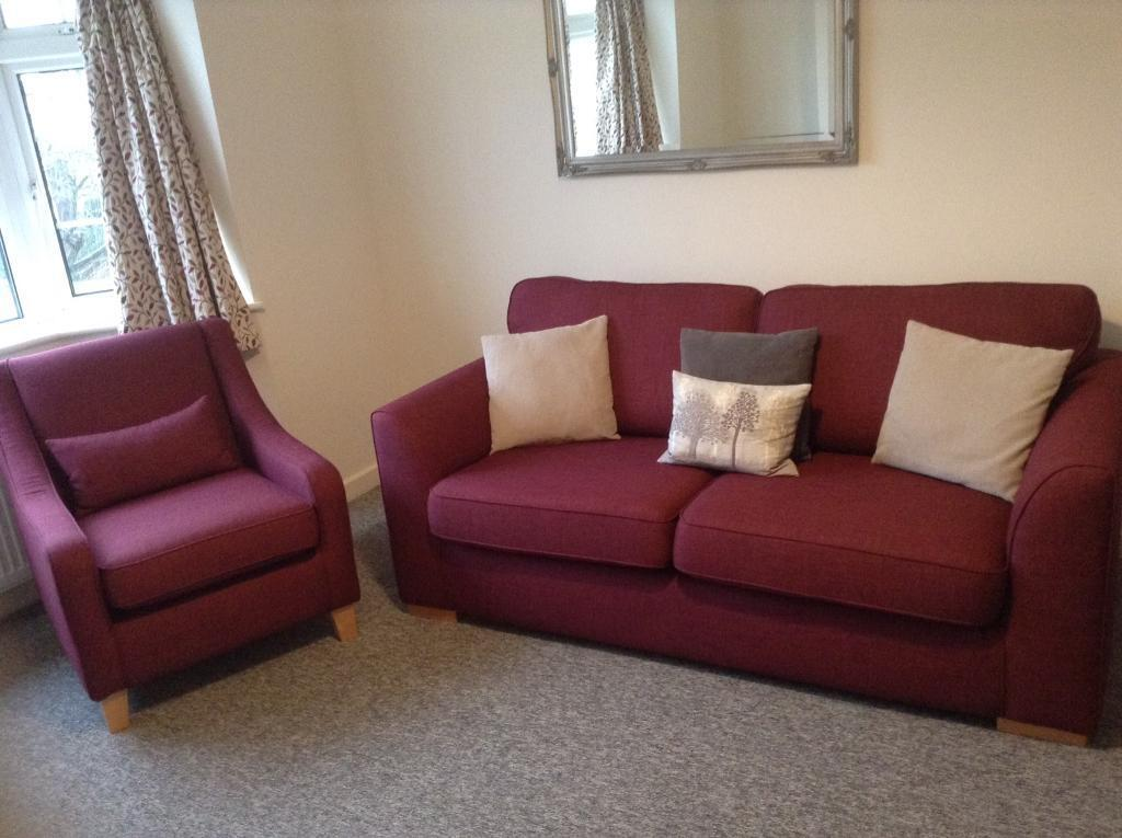 Small Sofa And Chair As New