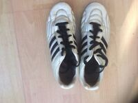 White Adidas football boots size 4/5