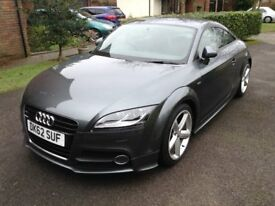 AUDI TT in almost 'mint' condition, 5.5 yrs old, v. low mileage, metallic grey, luxurious motor car