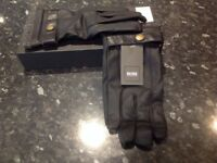 Hugo Boss Black Soft Leather Glove * NEW in box * Mens* One size.