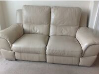 DFS Electric Reclining Leather Suite