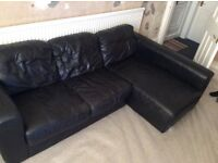 3 Seater Leather Corner Sofa. Quick Sale Wanted.