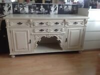 Professionally upcycled shabby chic/ antiqued/ distressed sideboard