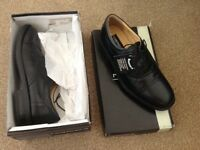 Mens black roamer shoes - new with box £12