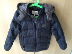 ARMANI Junior age 6 boys navy puffa jacket
