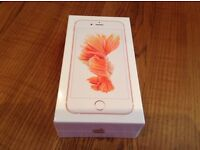BRAND NEW. I-phone 6s...rose gold.....32gb.....with cover