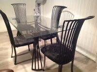 BEAUTIFUL SET OF TABLE AND CHAIRS A MUST SEE PLUS DELIVERY AVAILABLE
