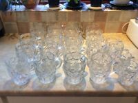 Glass ware - 19 x pint glass traditional jugs 4 x half pints