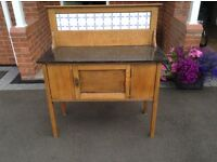 Edwardian wash stand with black marble top