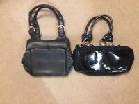 2 x black short strap bags - Next & River Island - only £5 for both
