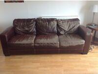 Free brown leather sofa (retro!)