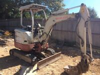 takeuchi 2.7 ton 2007 digger, powerfull for size,£8,500 NO VAT,Comes with 4 buckets, 2172 hours
