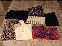 SIZE 8 CLOTHING X7 (mixed items). X3 NEW. X4 USED. RIVER ISLAND PRIMARK TOPSHOP GEORGE SOUTH BHS.