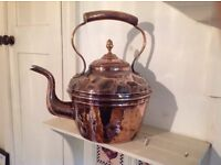Large Victorian Copper Kettle