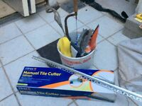Vitrex 500mm tile cutter plus bunch of other tiling tools