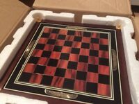 King Tut Franklin Mint Chess board with tomb