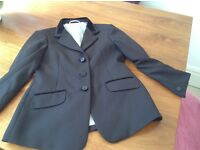 Black equestrian show jacket