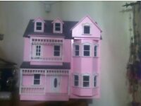 Pink Dolls House for collector or older child