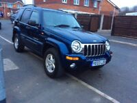 JEEP Cherokee 2.8 limited CRD 5DR hatchback Diesel AUTOMATIC 2003 full history 9 months mot miles