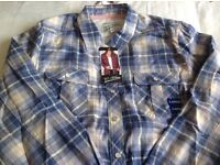B.C.clothing Plaid Shirt Woman. Size M.L New. See photos. Kirkland Crewneck sweater.