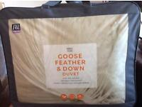 M & S Goose Feather and Down Duvet. Brand New) Super King Size.