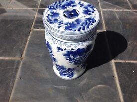 Chinese ceramic garden stool Blue & White