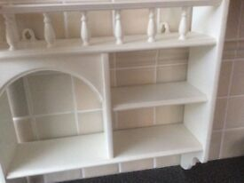 Wooden wall display unit