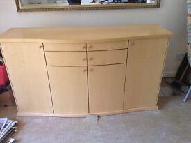 Side Cabinet ( light wood) original Fishpools purchase