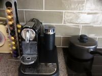 NESPRESSO MAGIMAX Citiz and milk coffee machine + Coffee Holder Stand
