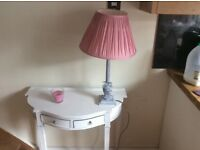 Lovely solid wood lamp with brand new Laura Ashley shade