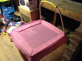 Pink pre-school trampoline 3years plus