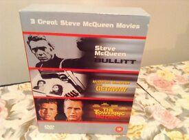 STEVE McQUEEN 3 DICS DVD BOX SET