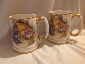 2 beer steins lovely items