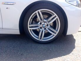 "4 genuine BMW 19"" alloy wheels with brand new run flats"