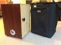 """Lion """"Active"""" Cajon with adjustable snare wires and bag - Mint Condition"""