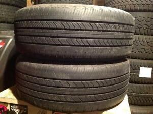 2 pneus d'été 215/55 r16 Michelin mxv4.  75$