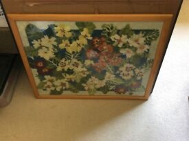 Floral framed cross stitch