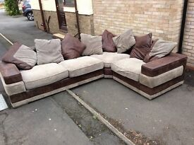 Large corner sofa - used but good condition.