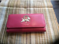 Pink leather long Radley purse