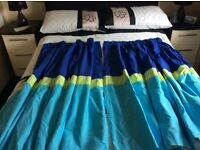 """Kids """"Beep Beep"""" duvet cover and matching curtains"""