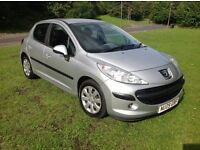 2009 PEUGEOT 207 1.4 HDI A/C 5DR MOT JULY 17 SERVICE HISTORY 2 KEYS DRIVES GREAT PX WELCOME