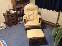 Cream Supremo Bambino Nursing Glider Chair