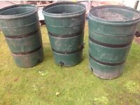 3 no. 200l water drums