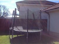 FREE - 10ft trampoline with enclosure, needs to be dismantled and collected.