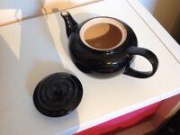 Le Creuset classic black teapot